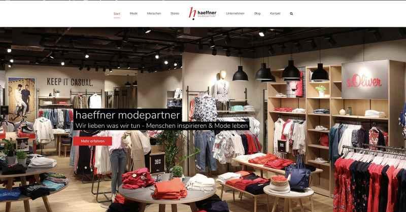 Neue Homepage der haeffner Modepartner Gruppe